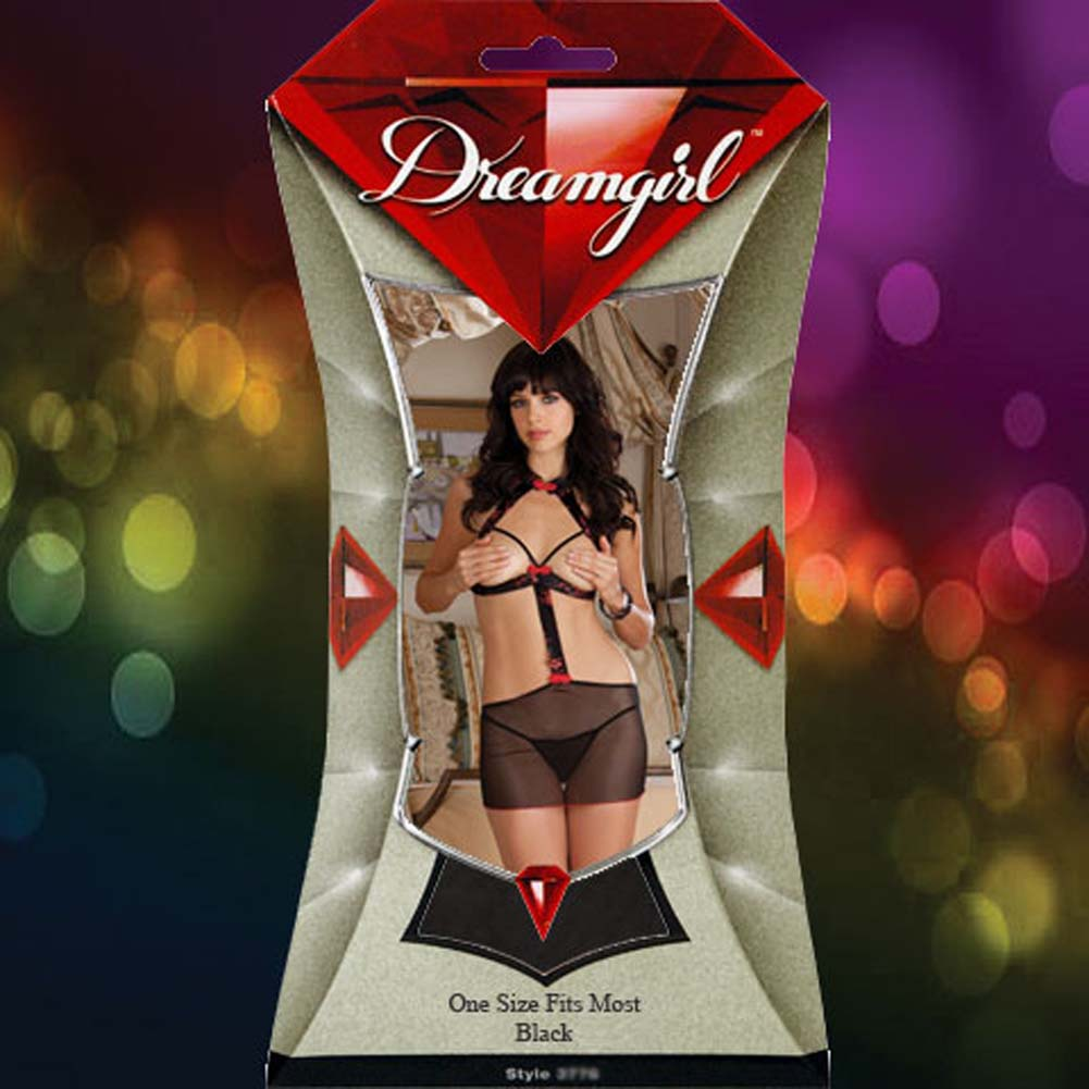 Bangkok Beauty Cupless Chemise Set One Size Red and Black - View #4