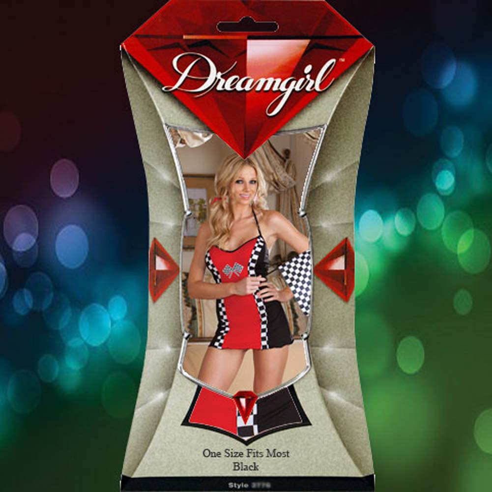 Wild Ride Chemise Costume Set One Size Red and Black - View #4