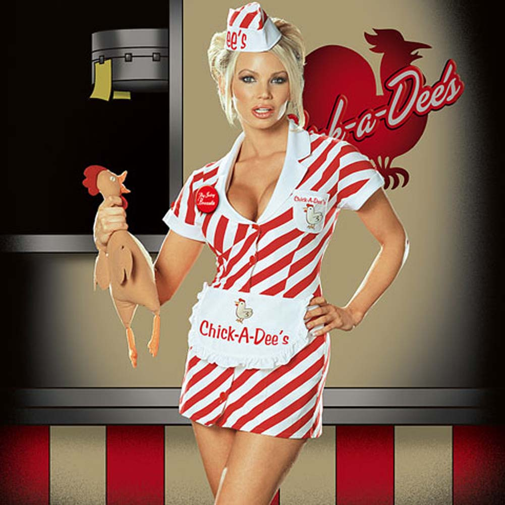 Chick A Dees Chicken Shack Costume Small - View #1