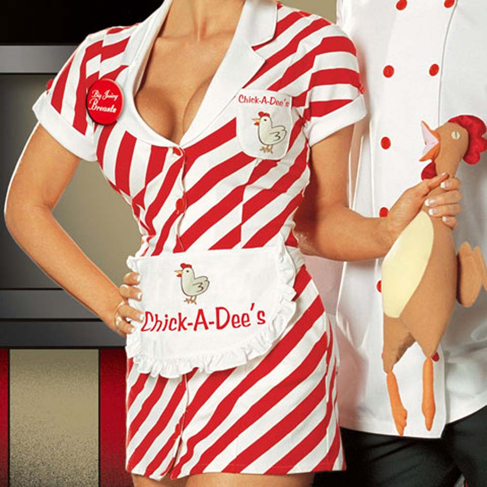 Chick A Dees Chicken Shack Costume Large - View #3