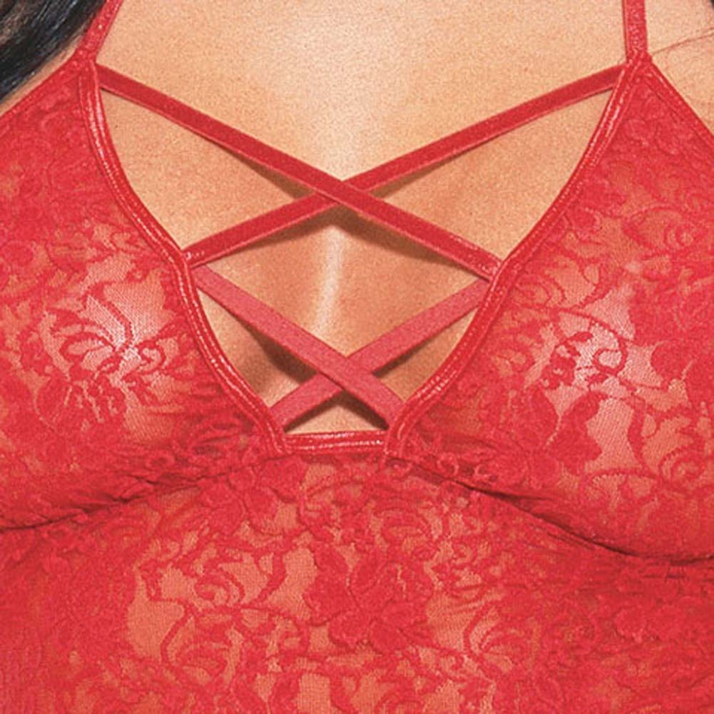 Babydoll with Thong Style/3691 Red - View #4