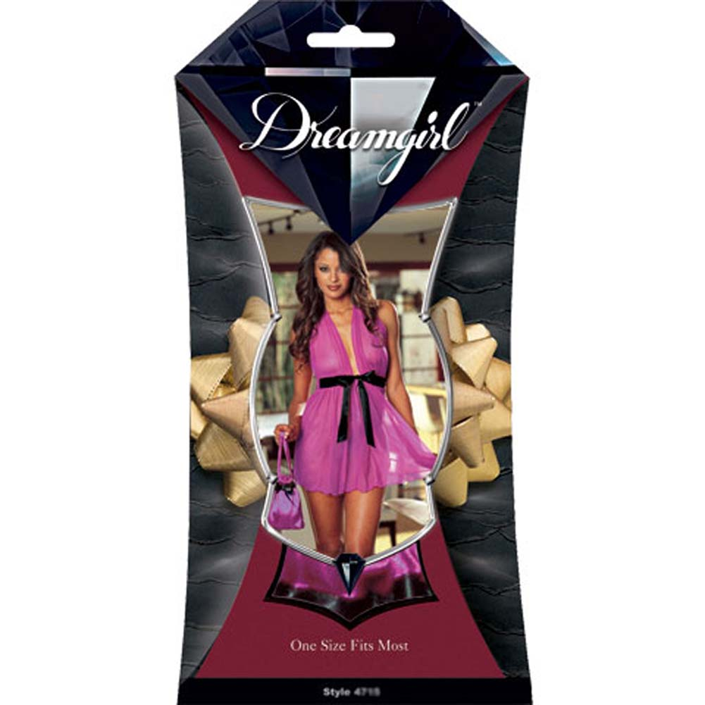 Babydoll with Matching Pouch Set Fuchsia - View #1