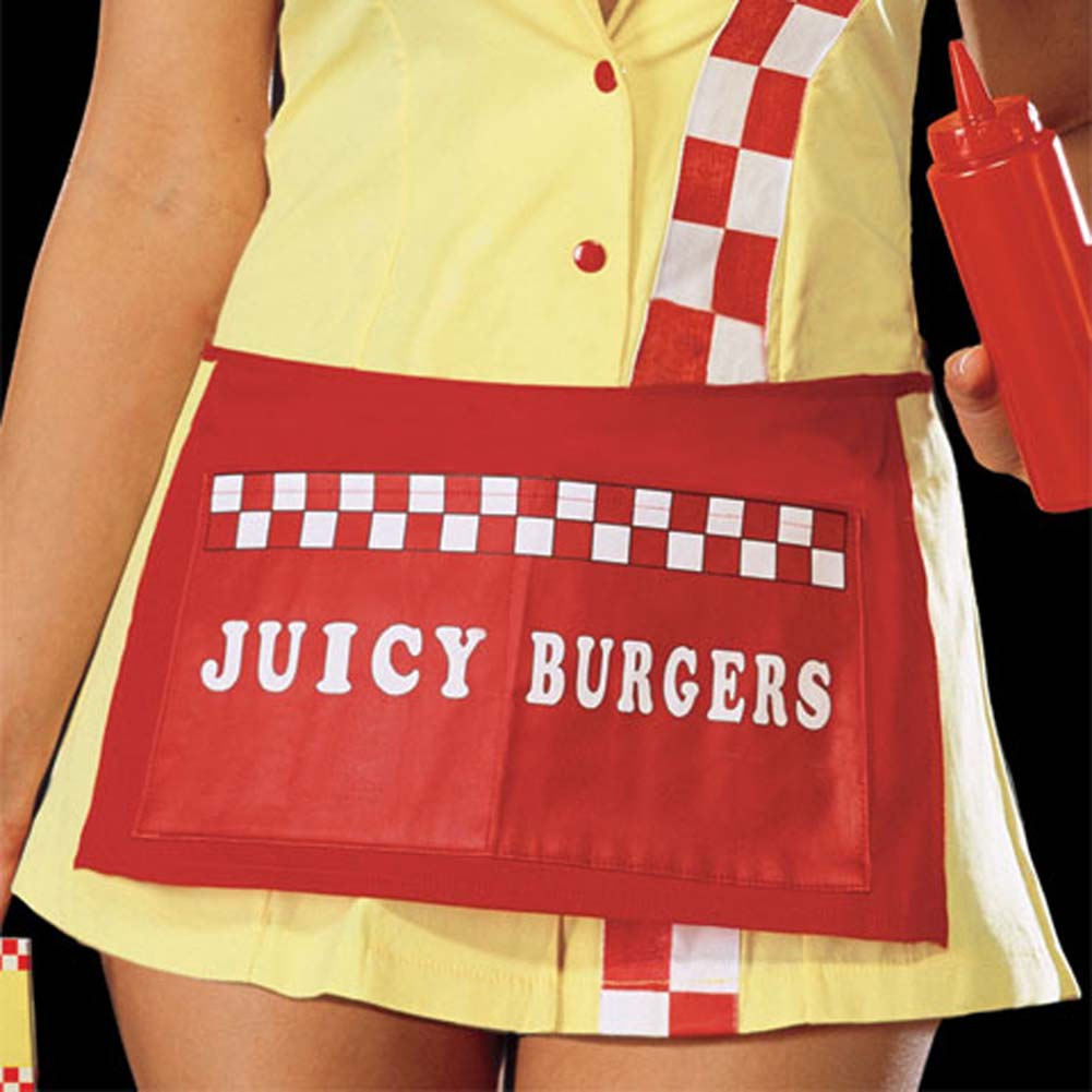 Juicy Burger Babe Costume Yellow Medium - View #3