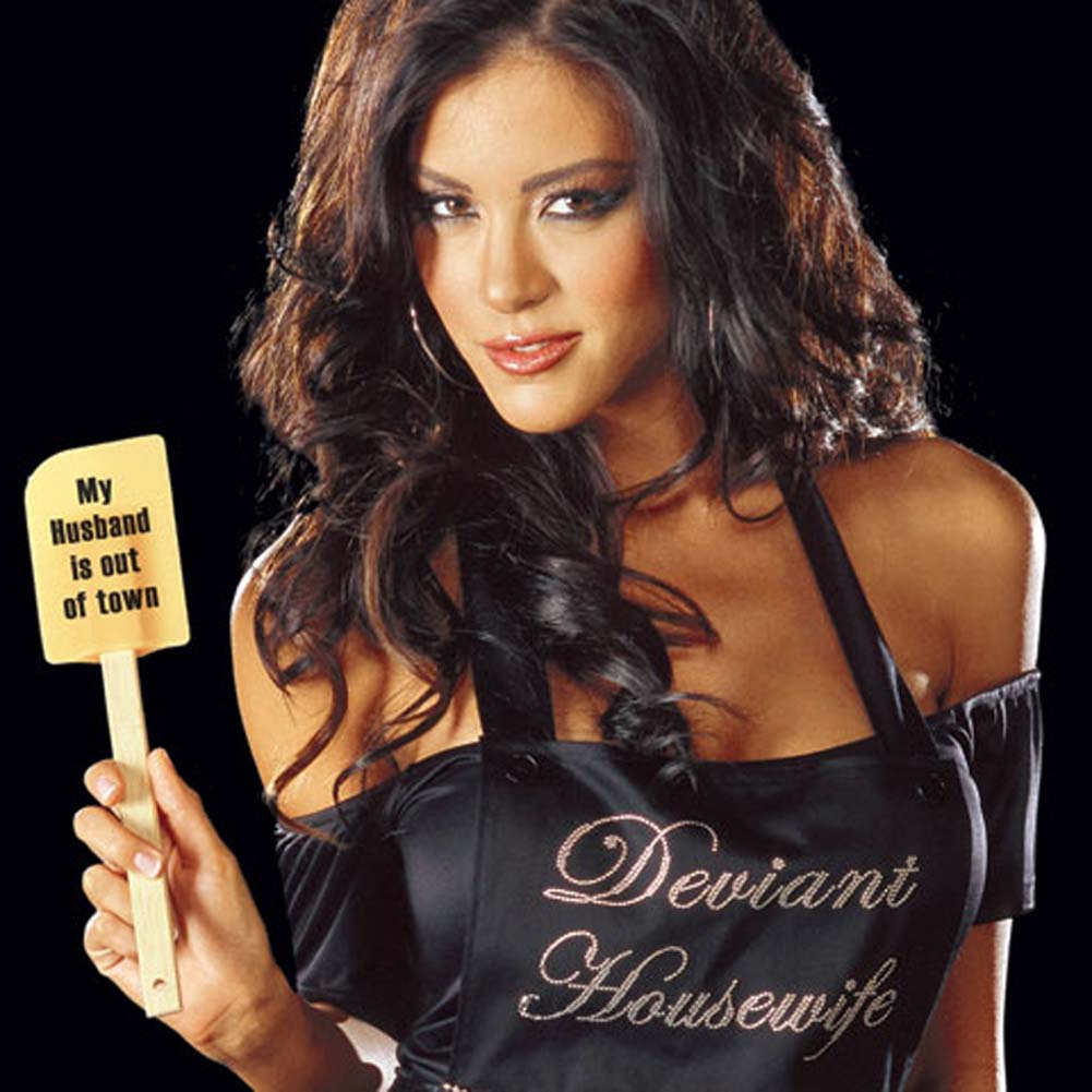 Deviant Housewife Costume Black Small - View #2