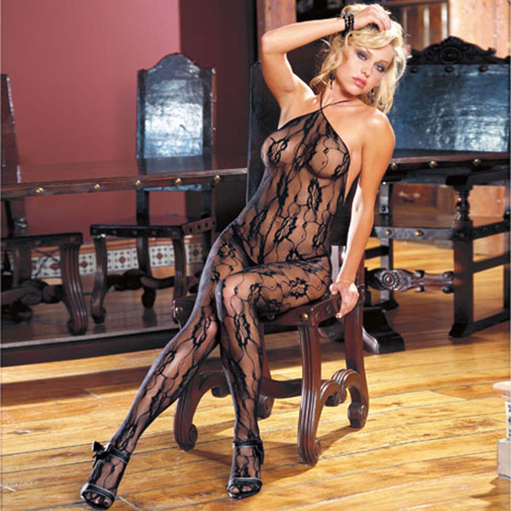 Florence Floral Lace Bodystocking - View #2