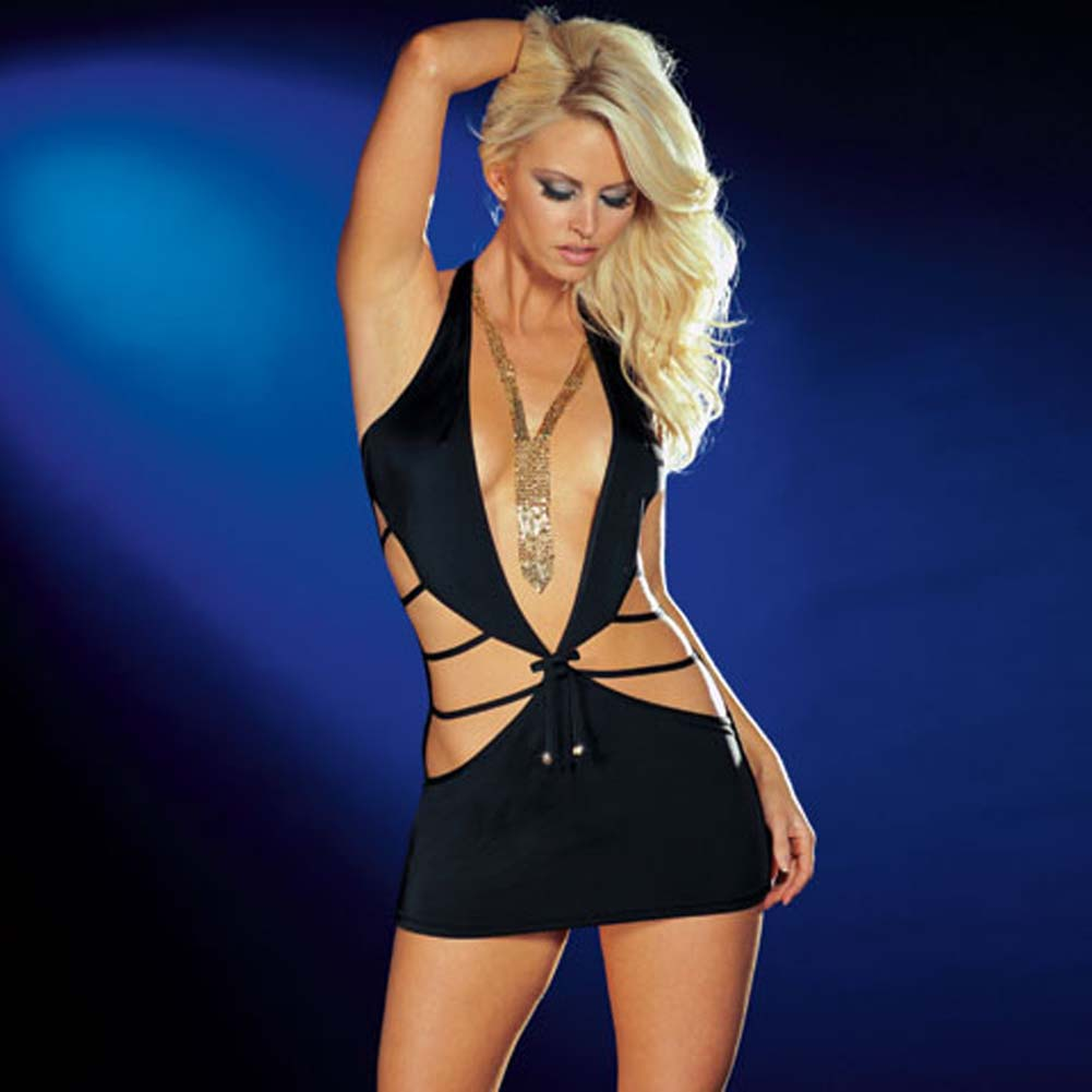 Shake It Dress with Thong Black Small - View #1