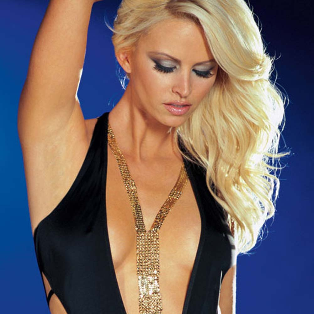Shake It Dress with Thong Black Large - View #2