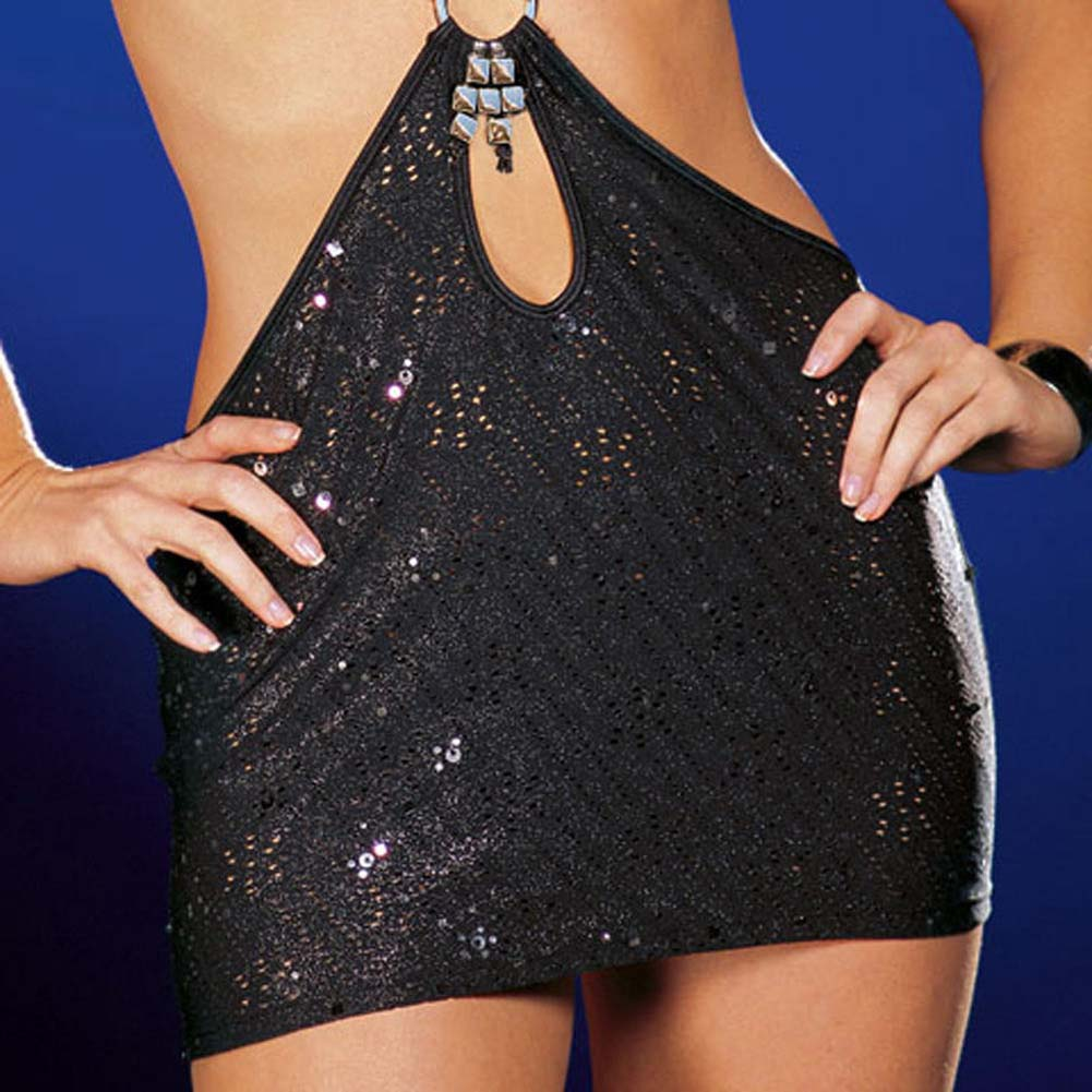 You Wish Dress with Thong Black Large - View #4