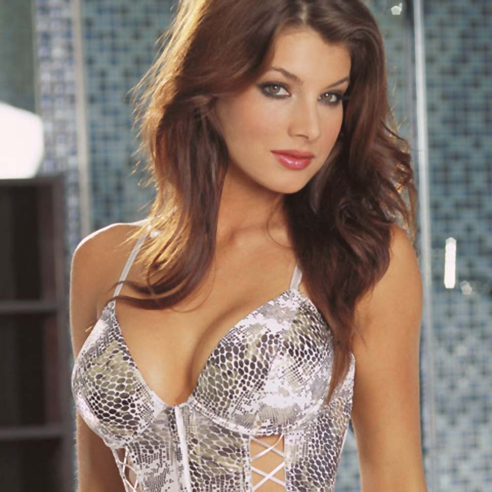 Cobra Print Bustier and Matching Thong Large - View #3
