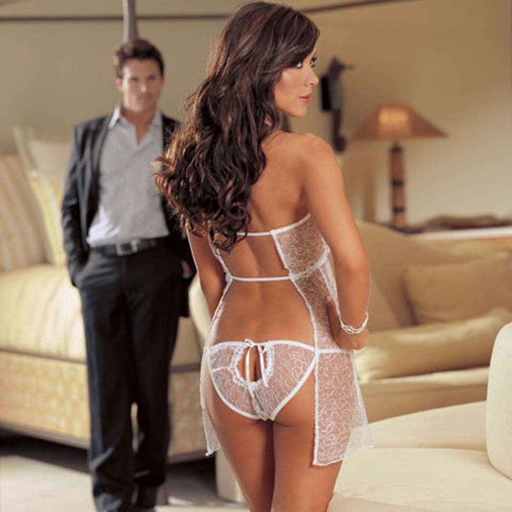 Wedding Night Babydoll Set White - View #3