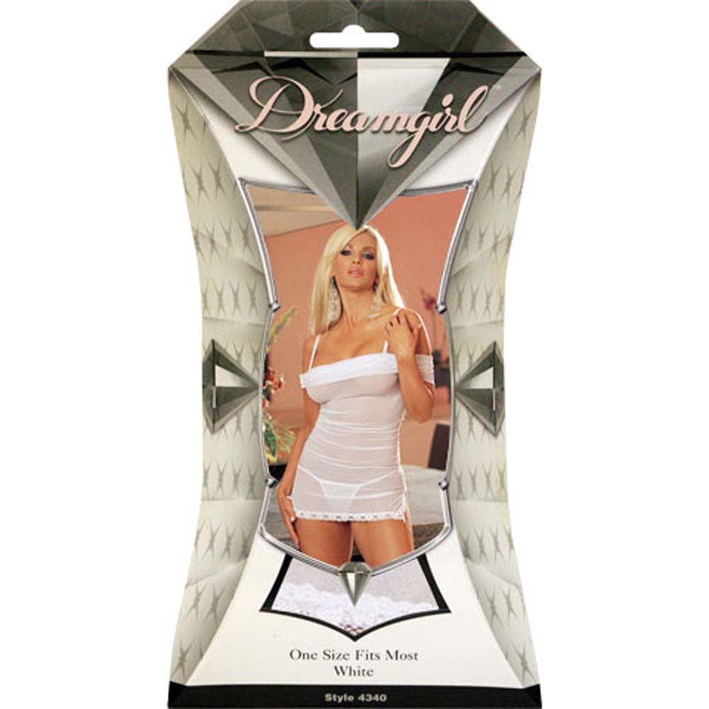 Wedded Bliss Mesh Babydoll White - View #1
