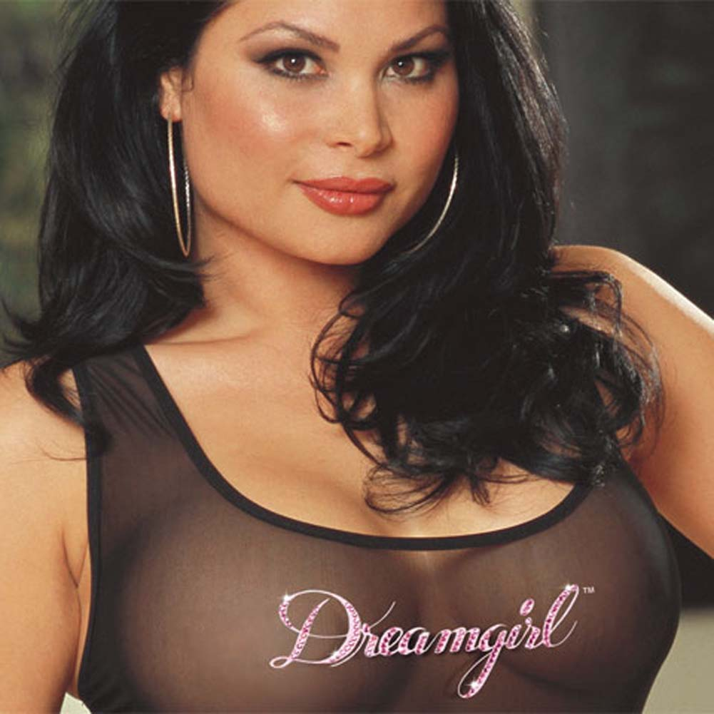Dreamgirl Tank Dress and Thong Set Plus Size 1X/2X - View #3