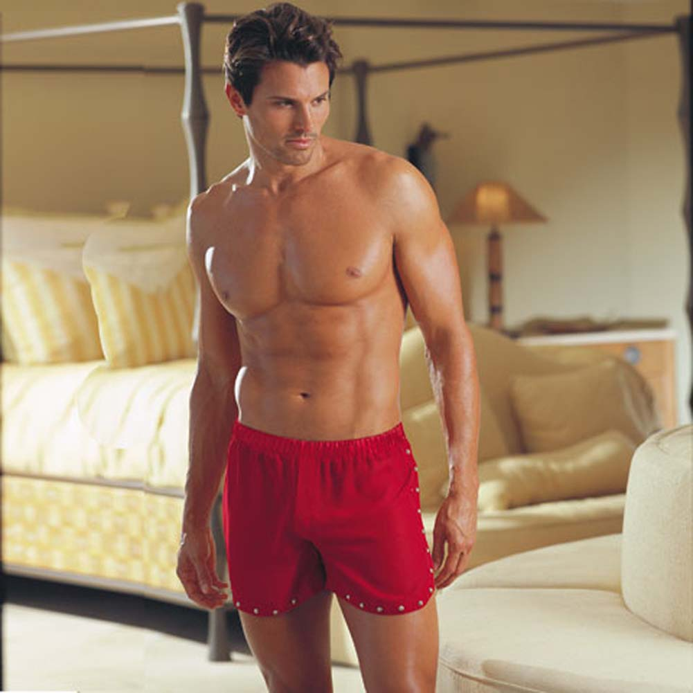 Tear Away Studded Trim Boxer Red Medium/Large5555 - View #1