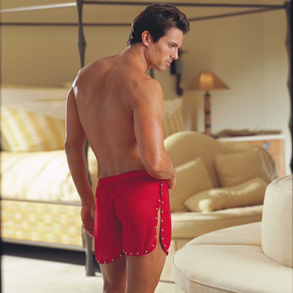 Tear Away Studded Trim Boxer Red Large/XLarge - View #2
