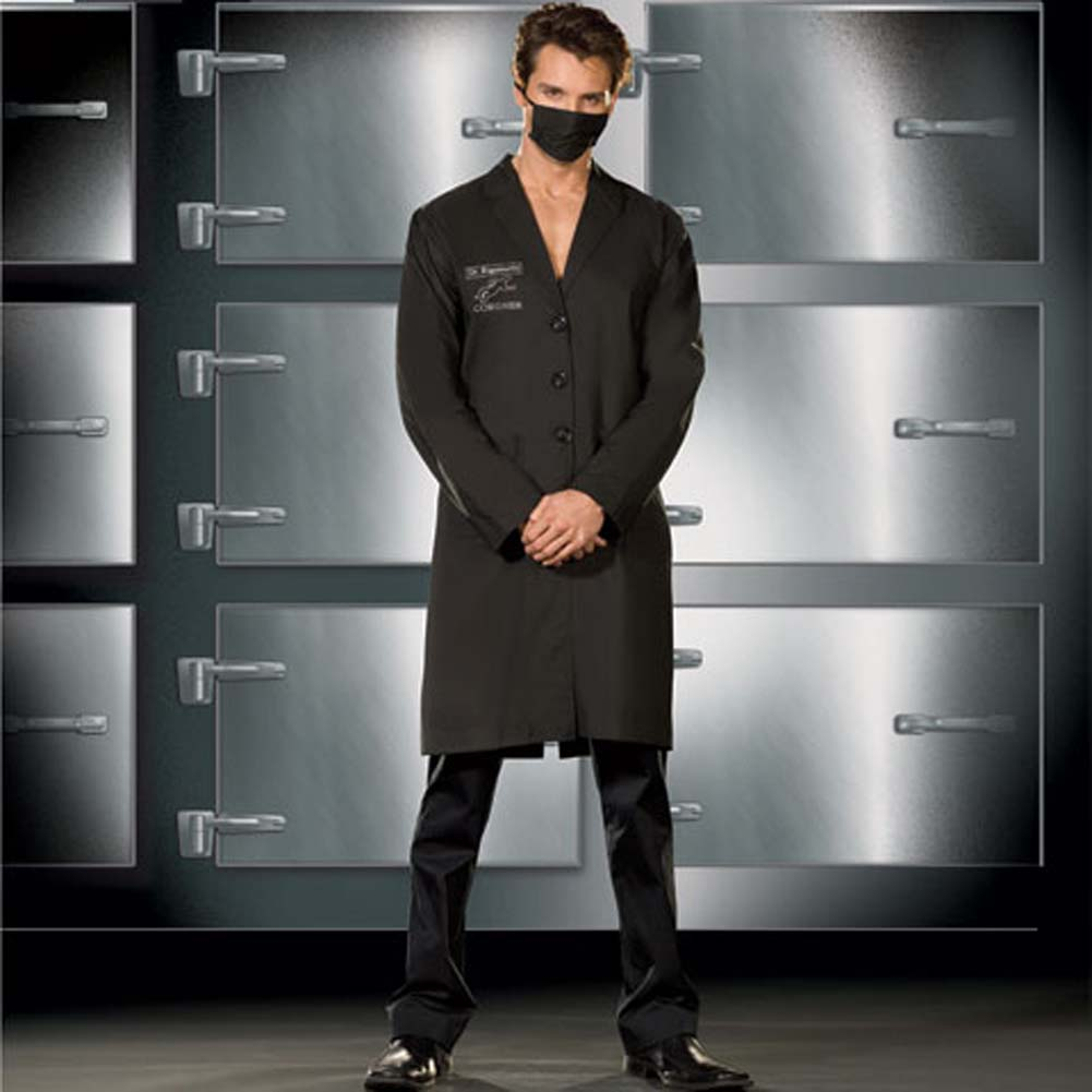 Doctor Rigamortis Costume for Men Extra Large Black - View #1