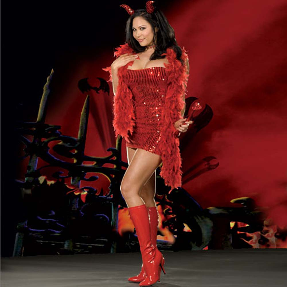 You Little Devil Red Costume Plus Size 3X/4X - View #1