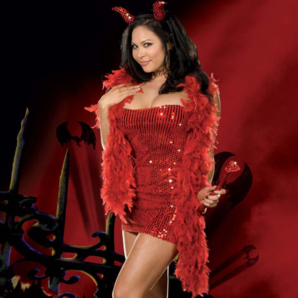 You Little Devil Red Costume Plus Size 3X/4X - View #3