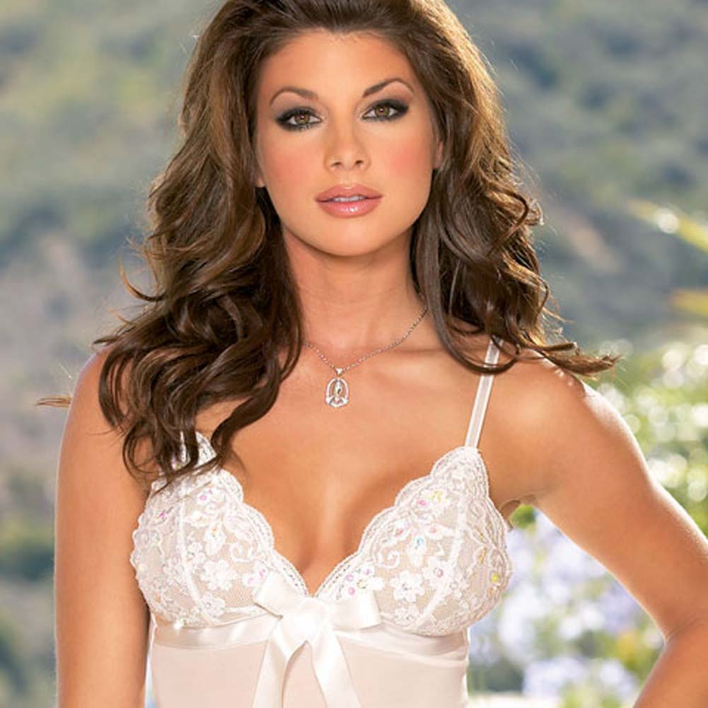 Dreamy Babydoll and Thong White Medium - View #2