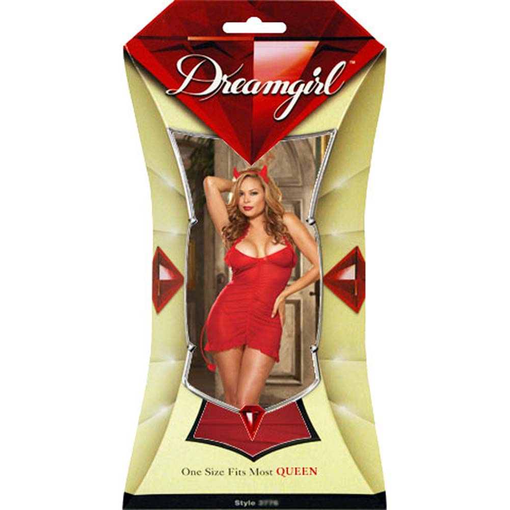Sinners Paradise Chemise with Devil Tail and Horns Plus Size - View #4