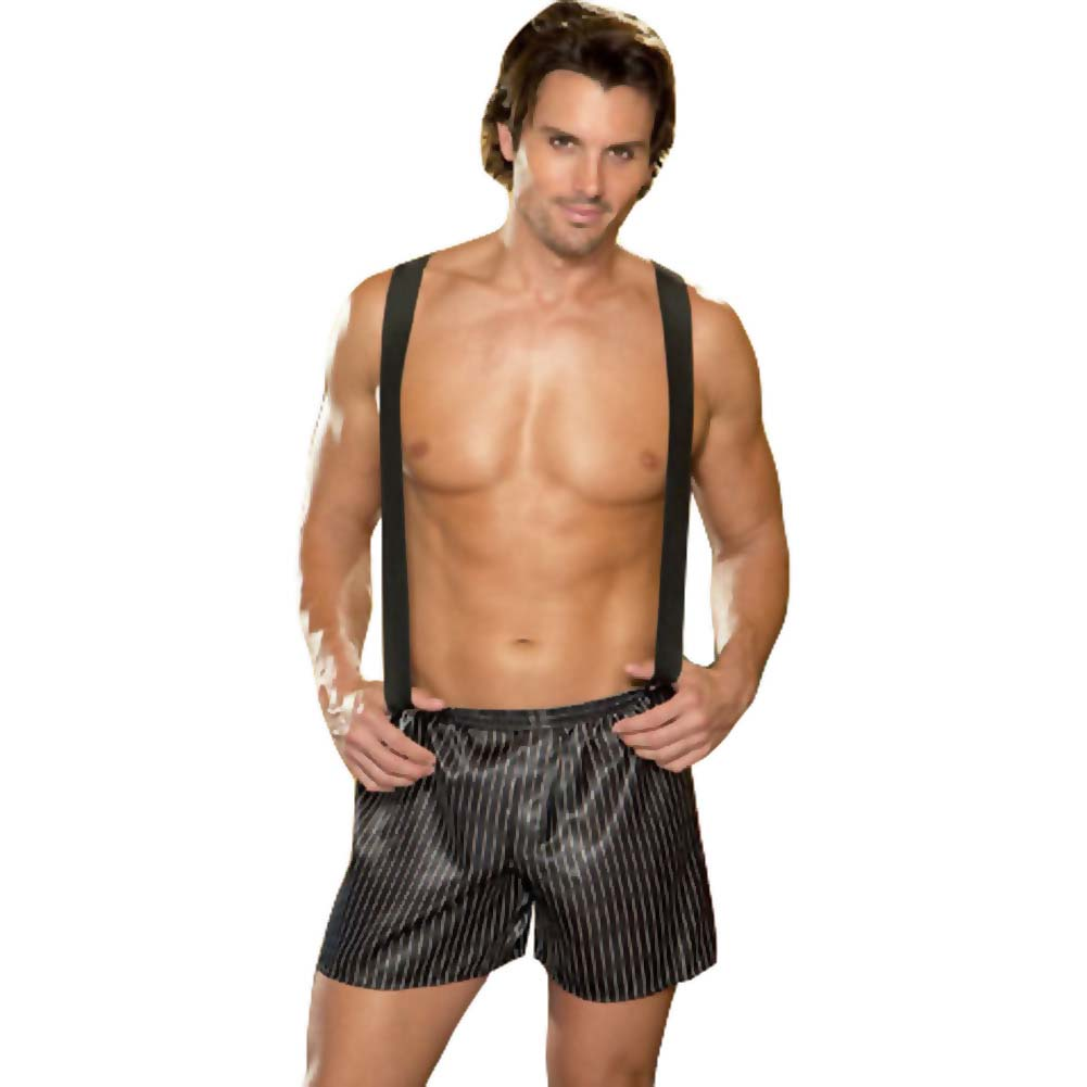 Dirty Business Boxer with Removable Suspenders Medium/Large Black - View #1