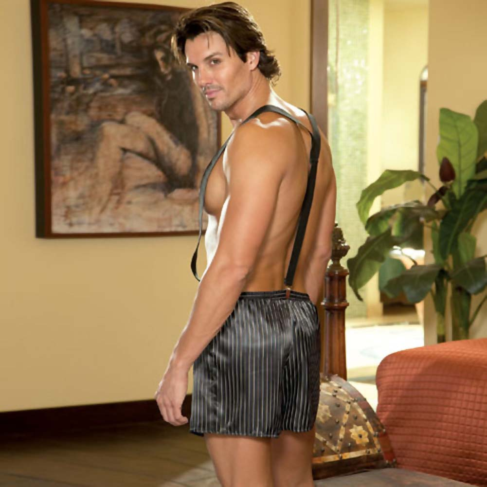 Dirty Business Boxer with Removable Suspenders Large/XLarge Black - View #2