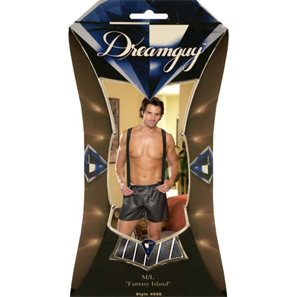 Dirty Business Boxer with Removable Suspenders Large/XLarge Black - View #4