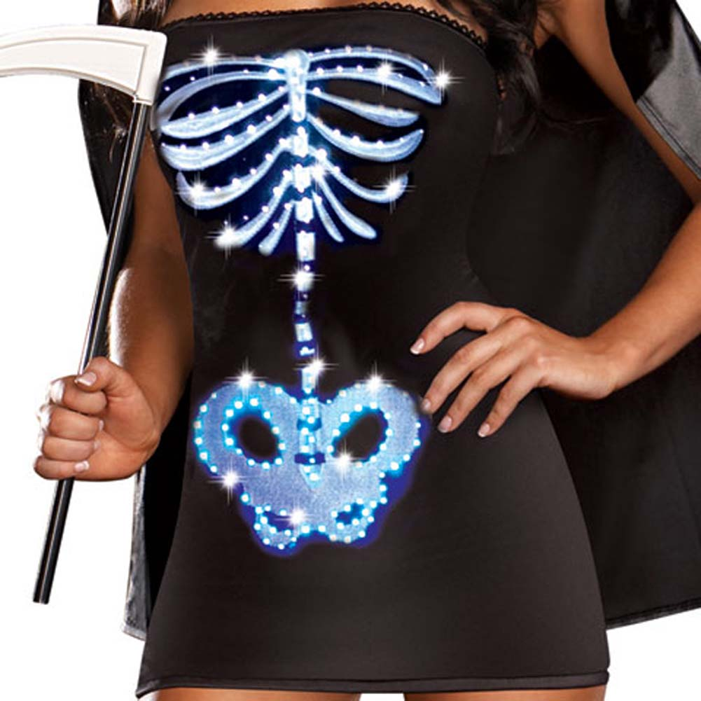 Dreamgirl Lingerie LIGHT UP Maya Remains Halloween Costume Small Black - View #4
