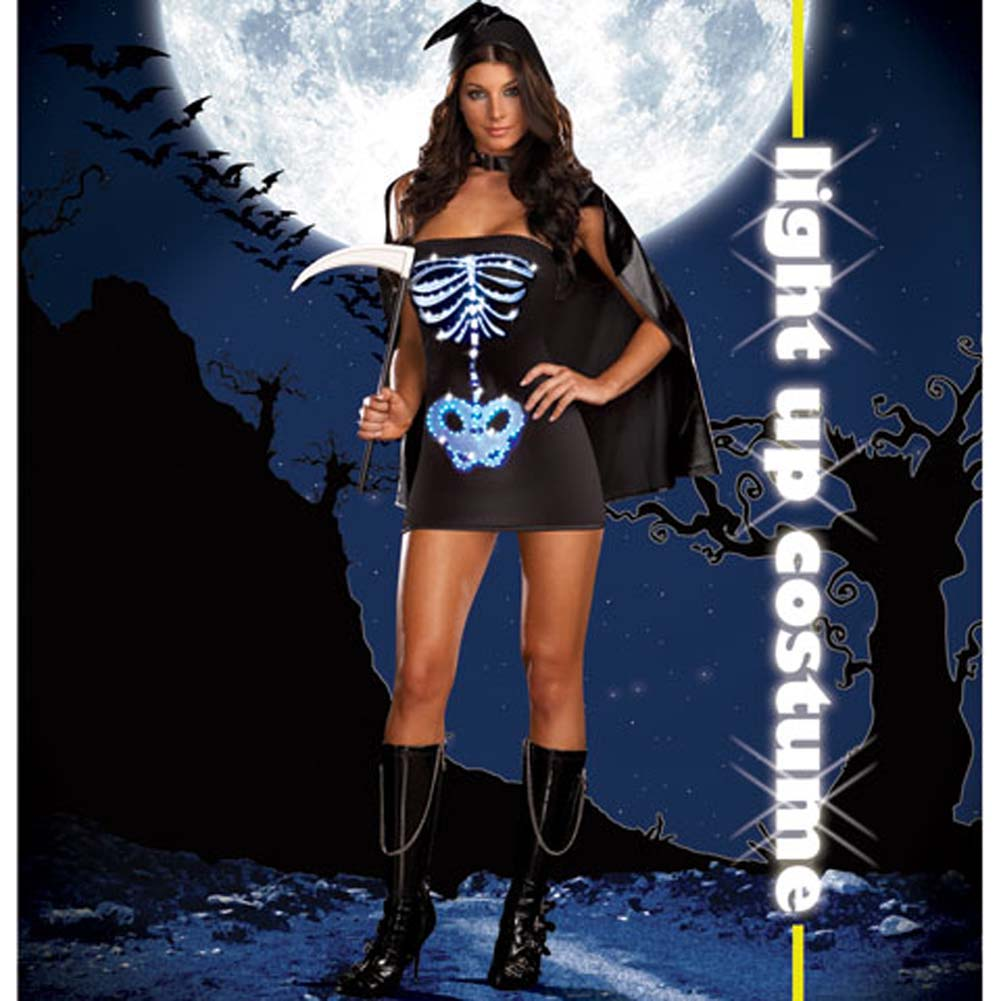 Dreamgirl Lingerie LIGHT UP Maya Remains Halloween Costume Large Black - View #2