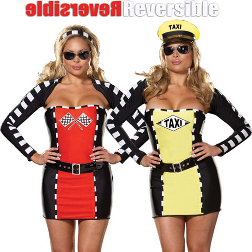 Fully Reversible Drive Me Crazy Costume Plus Size 1X/2X - View #1