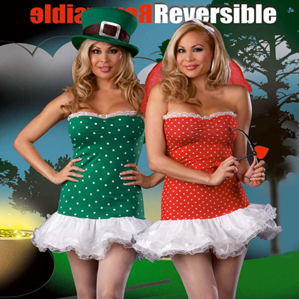 Fully Reversible Struck By Luck Costume Plus Size 1X/2X - View #1