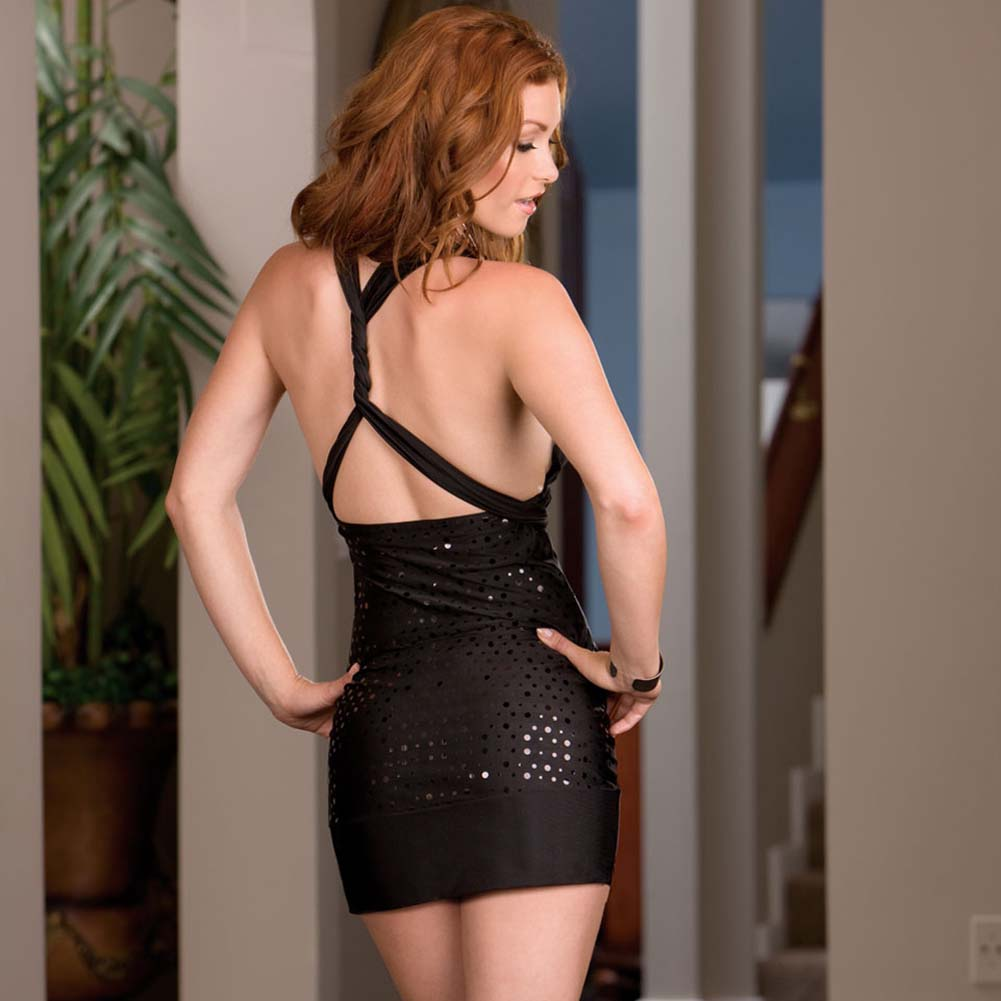 Versatile Dress with Thong and Styling Instructions Black - View #2