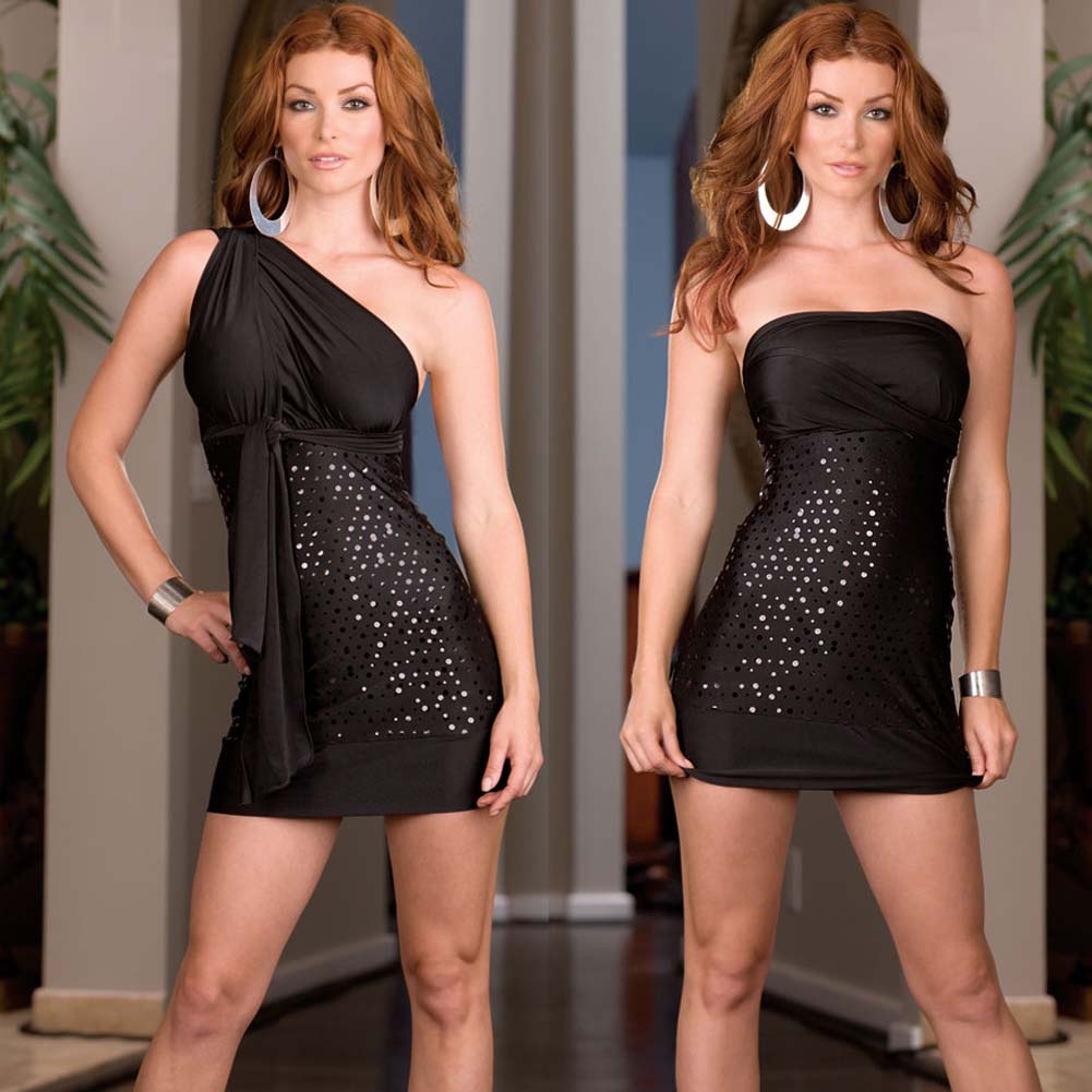 Versatile Dress with Thong and Styling Instructions Black - View #4