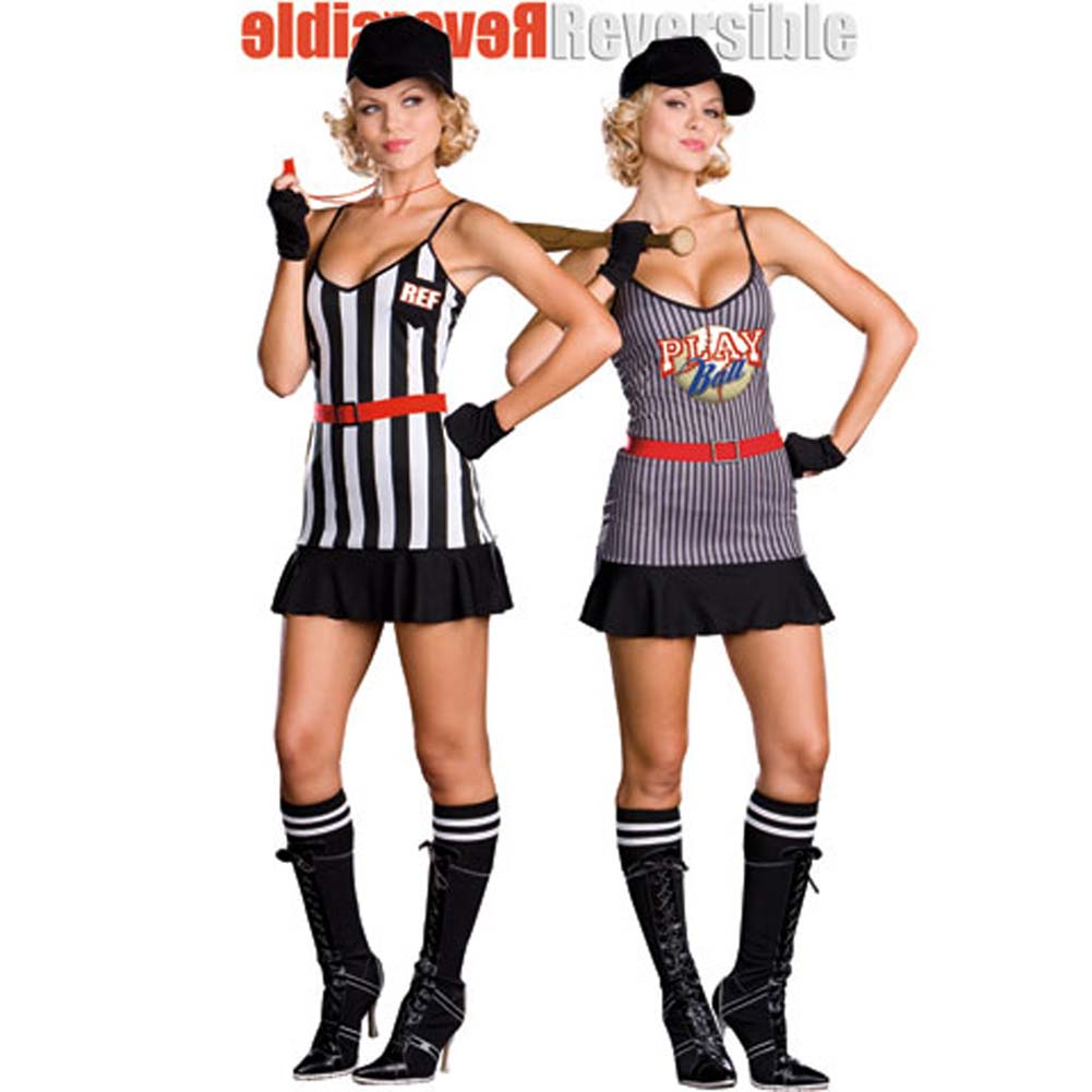 Fully Reversible Double Play Sports Costume Small - View #2
