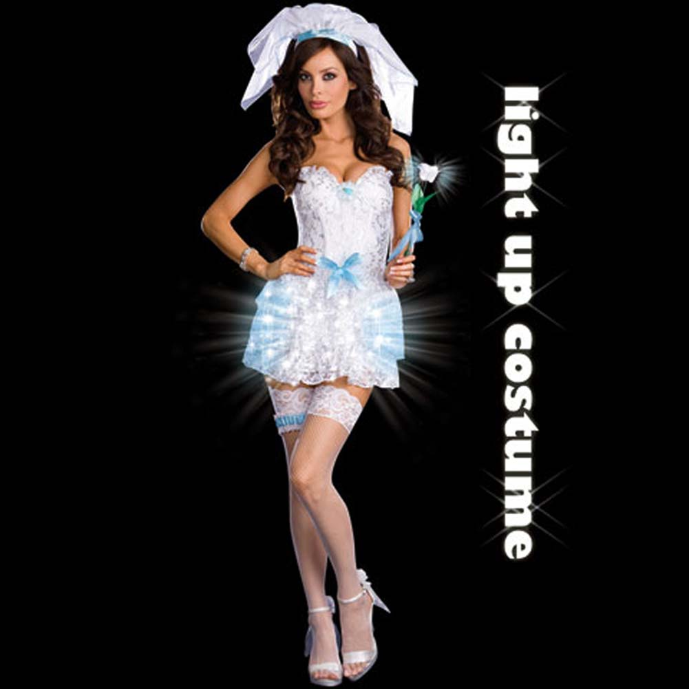 LIGHT Up My Life Bride Costume Medium - View #2