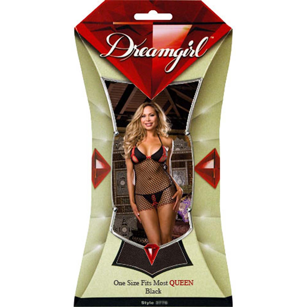 I Like It Dirty Sneak Peek Chemise and Panty Set Plus Size - View #4