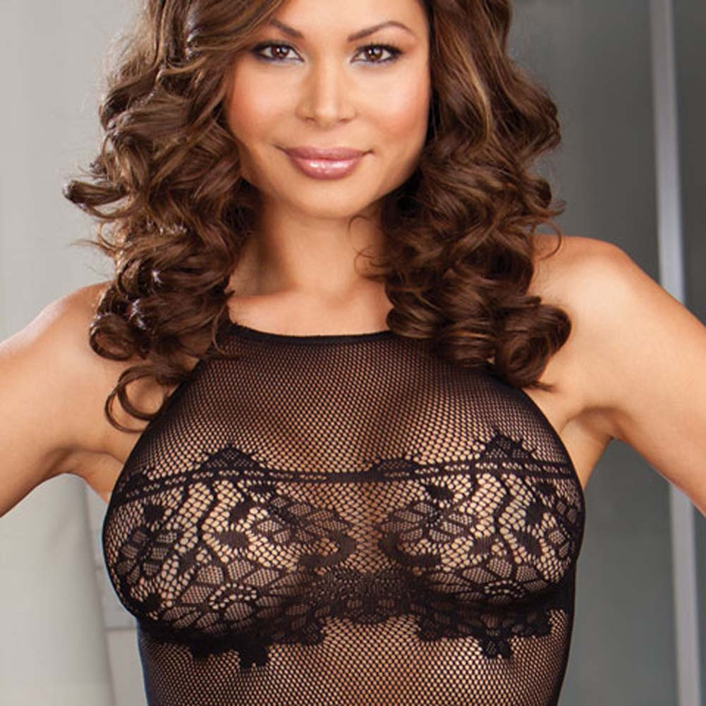 Naughty Seduction Chemise and G-String Plus Size Black - View #3
