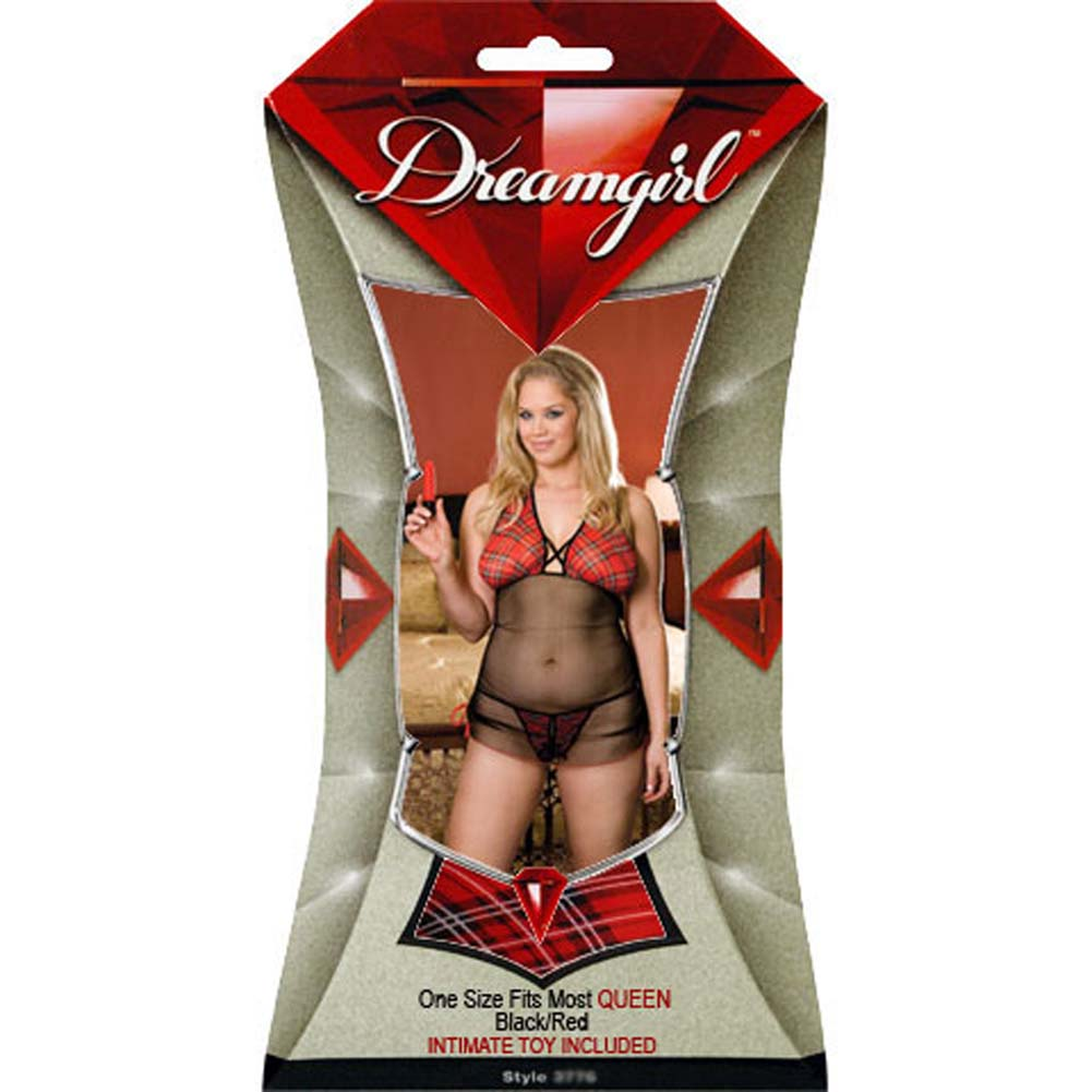 Teach Me a Lesson Babydoll with Thong and Vibe Plus Size - View #4