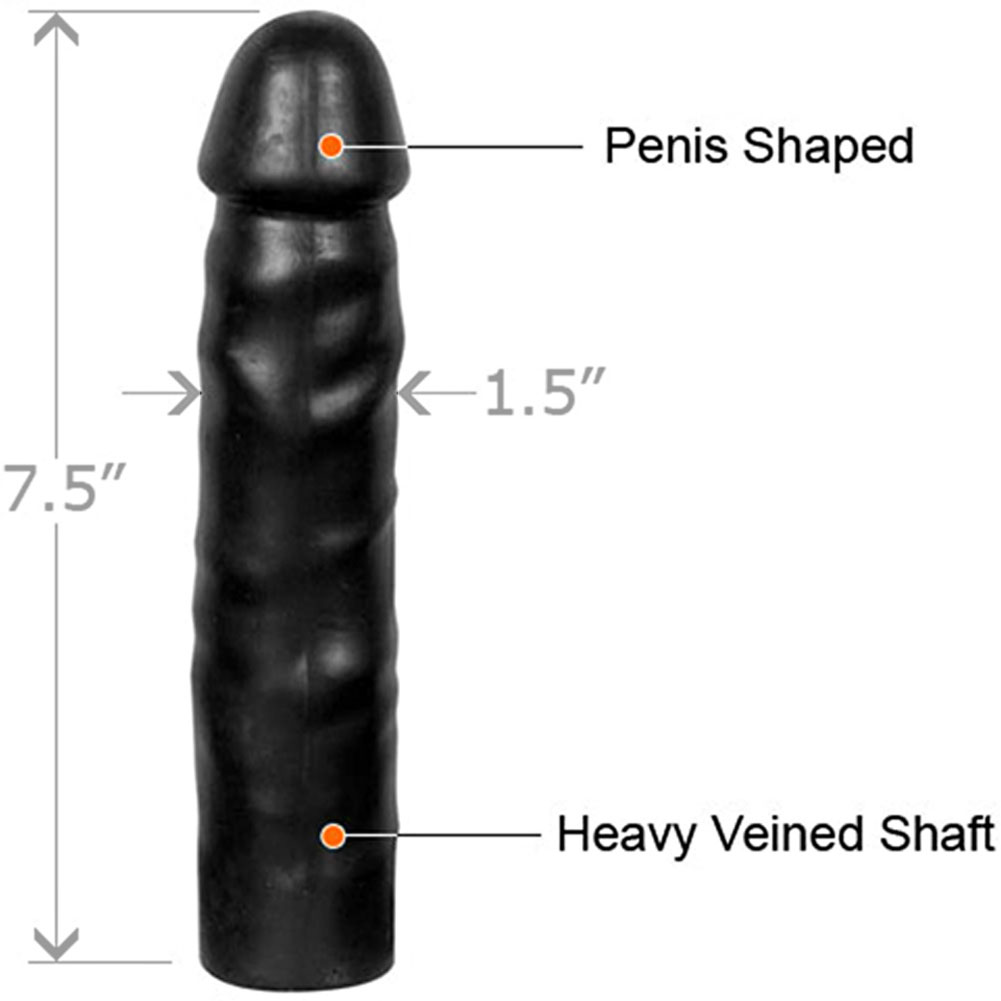 "Bonez Collection Dick Dong Realistic Dildo 7.5"" Black - View #1"