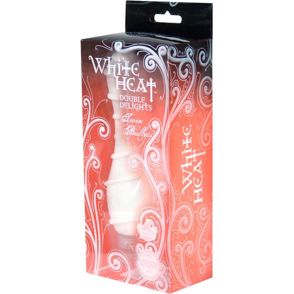"White Heat Double Delights Waterproof Spiral Vibe 6"" - View #4"