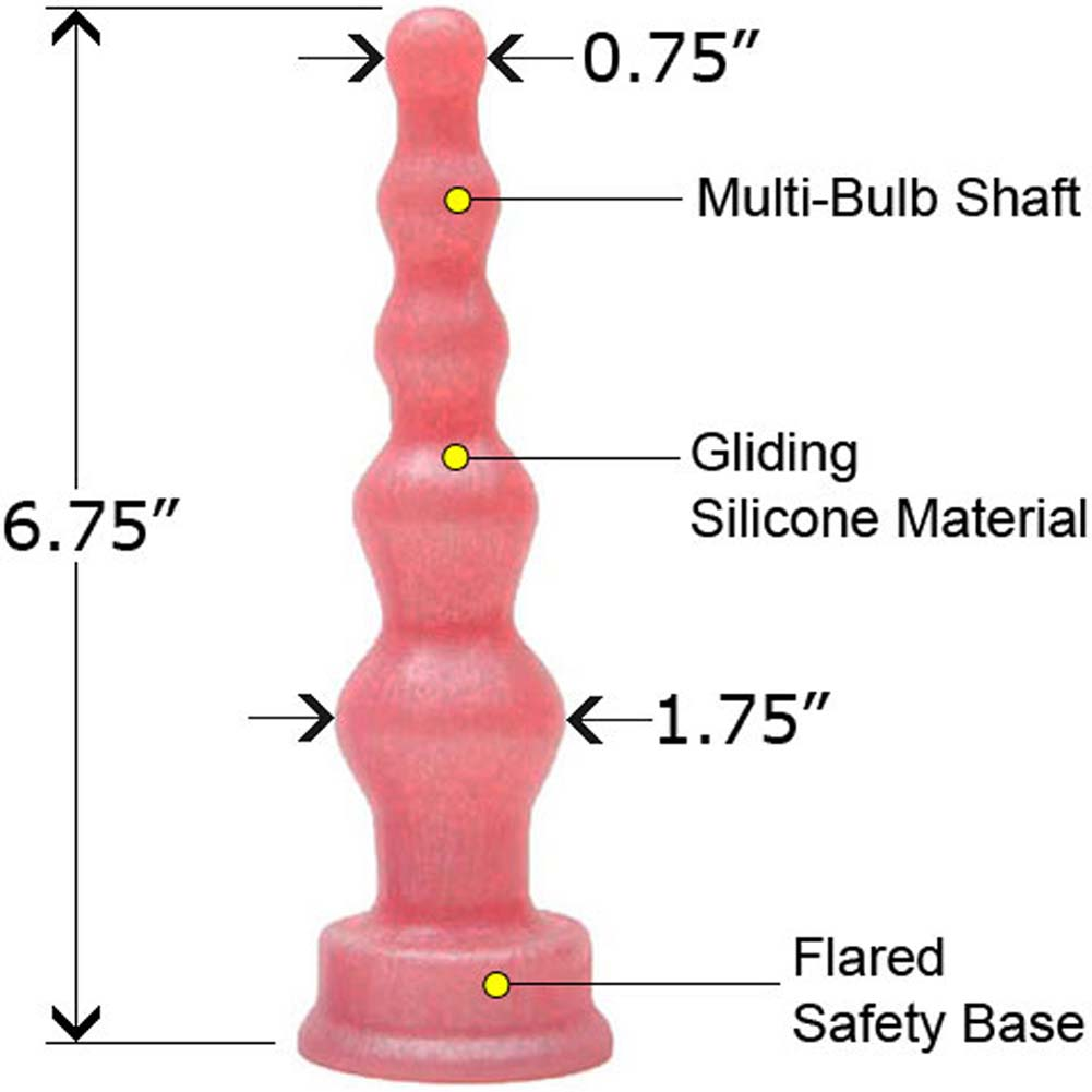 "PLATINUM Groove Silicone Butt Plug 6.75"" Pink Pearl - View #1"