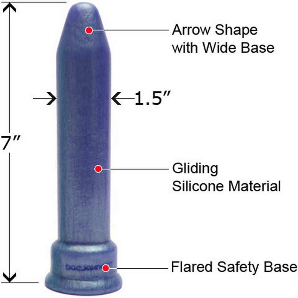 "PLATINUM the Tool Universal Silicone Sex Toy 7"" Blue Pearl - View #1"
