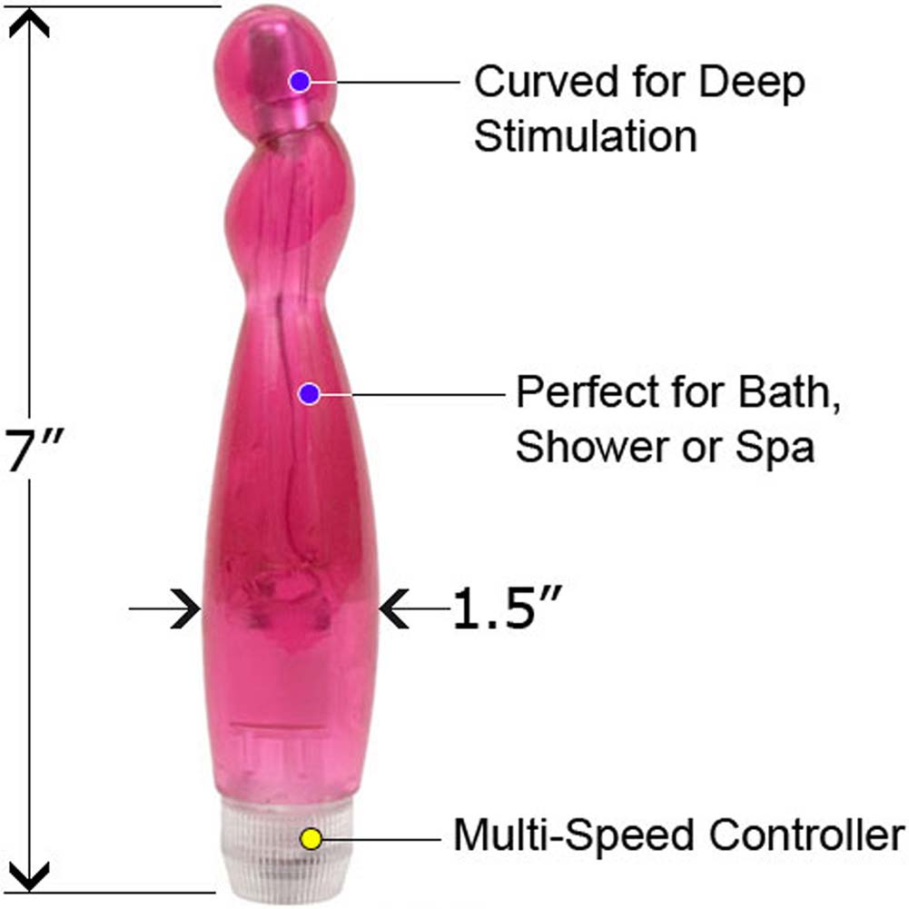 "Briana Wicked Curves G-Spot Waterproof Vibe 7"" Pink - View #1"