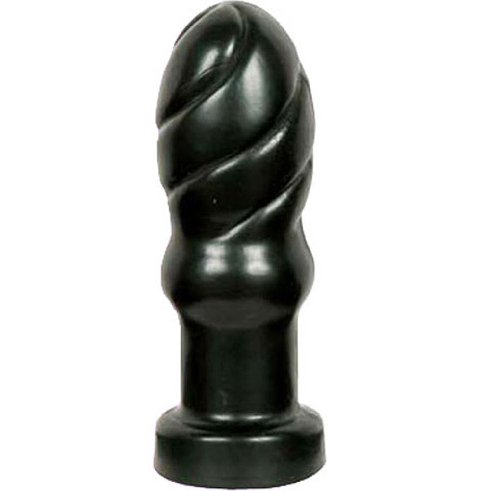 "Bonez Swirl Unisex Butt Plug 4.5"" Midnight Black - View #2"