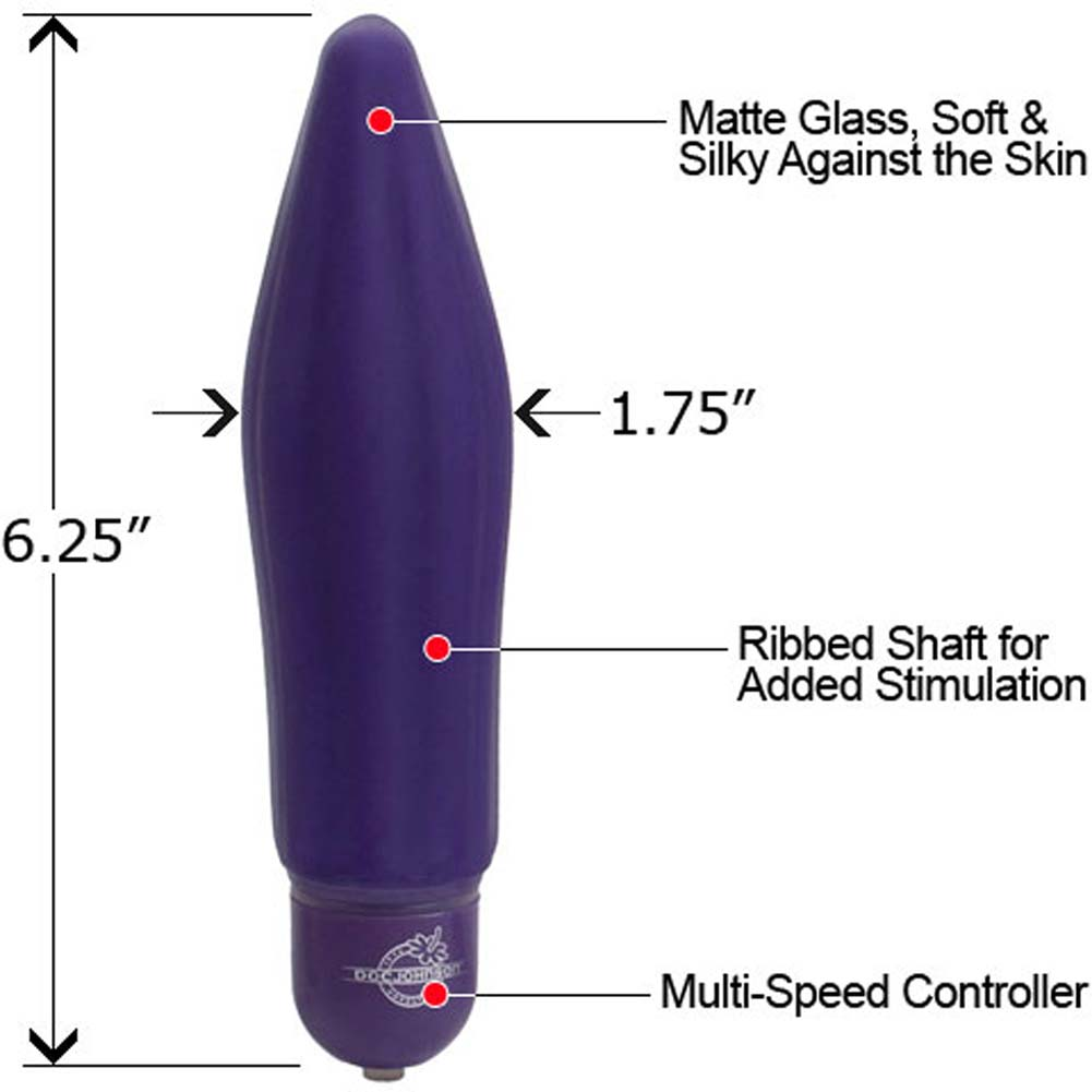 "Reflections Ecstasy Personal Glass Vibrator 6.25"" Purple - View #1"