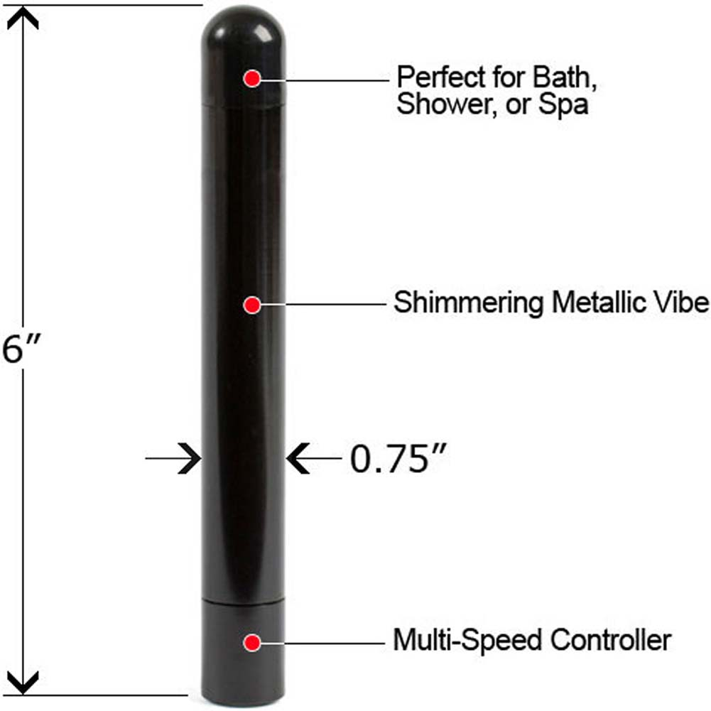 "Alumination Multi Speed Waterproof Vibe 6"" Black - View #1"