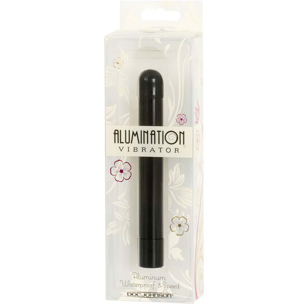 "Alumination Multi Speed Waterproof Vibe 6"" Black - View #3"