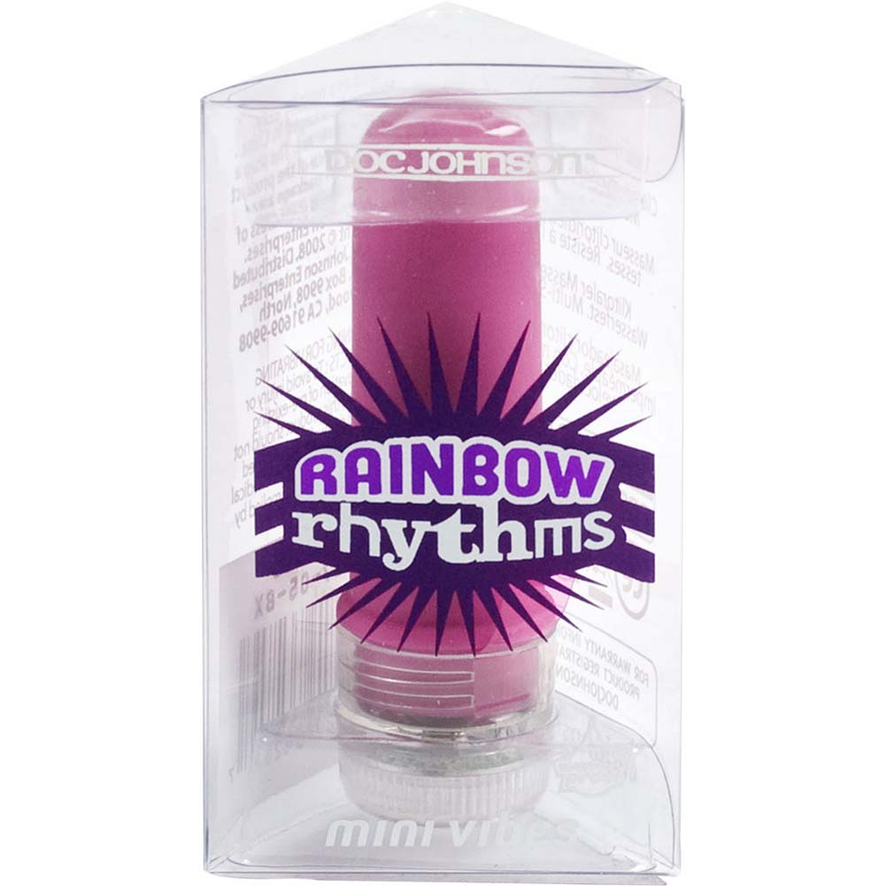 "Rainbow Rhythm Waterproof Mini Vibe 2.25"" Purple - View #3"