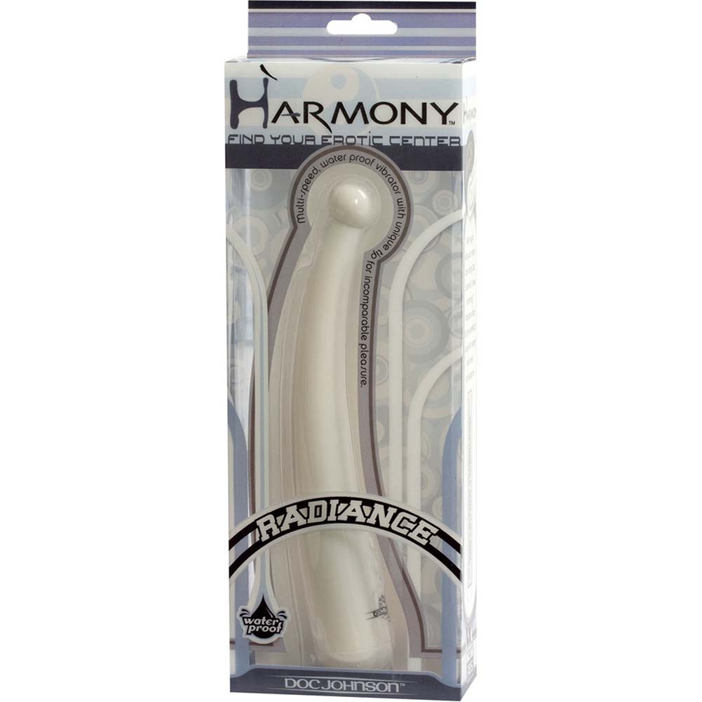"Harmony Radiance G-Spot Waterproof Vibe 8"" Yang White - View #3"