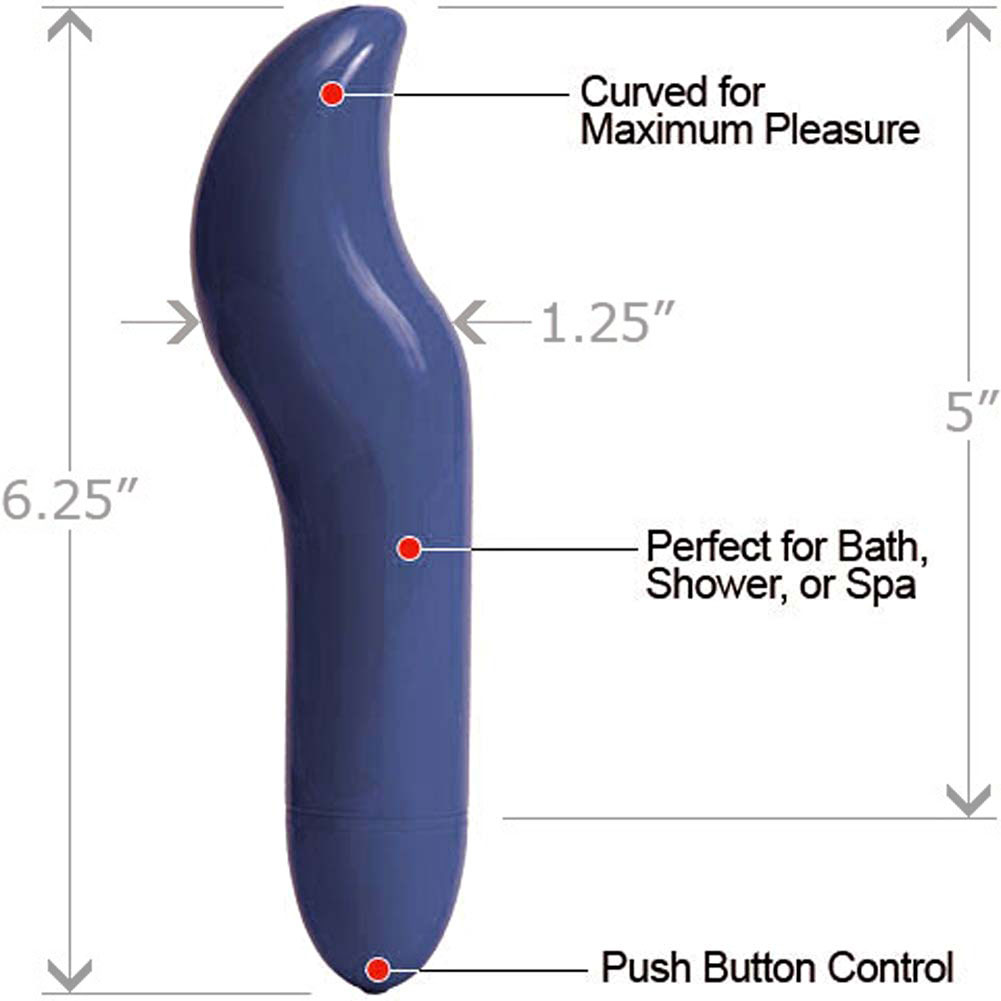 "Amore G-Spot Personal Intimate Vibrator 6.25"" Ice Blue - View #1"