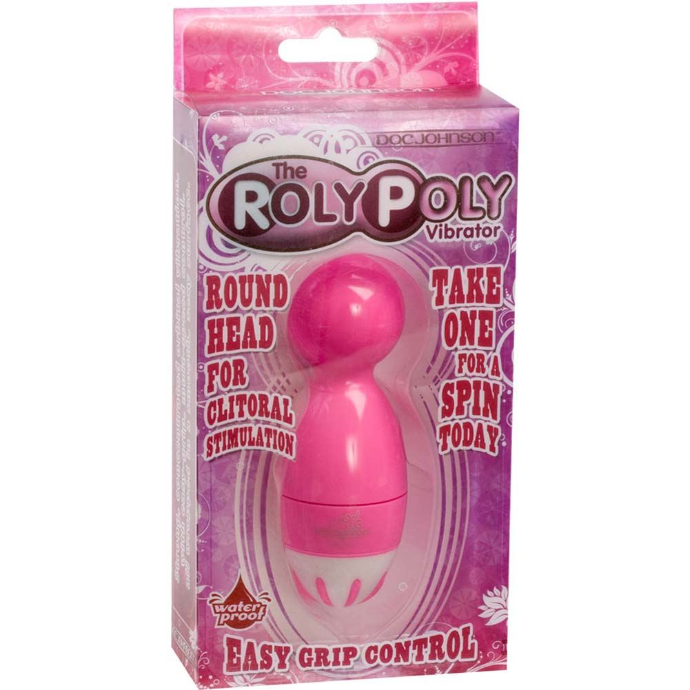 "Roly Poly Waterproof Vibrator 4"" Pink - View #3"